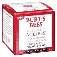 Burts Bees Naturally Ageless Skin Firming Night Creme 2 oz box may be damaged