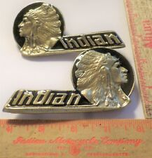 Vintage Indian motorcycle tank emblems collectible USA old American cycle parts