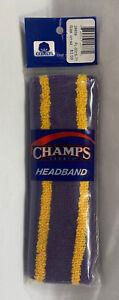 Champs Sports Vintage Purple/Gold Cotton Headband-Sealed