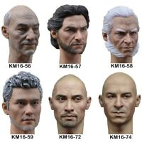 "1/6 Scale Professor Wolverine Head Sculpt Model Toys Fit 12"" Action Figure Body"