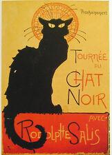 AFFICHE  POSTER CARTONNE LA TOURNEE DU CHAT NOIR  BLACK CAT GATTO NERO GATO 2