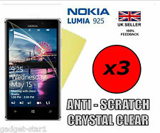 3x Hq Protector De Pantalla Transparente Tapa Lcd Film Protector Para Nuevo Nokia Lumia 925