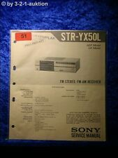 Sony Service Manual STR YX50L Receiver (#0051)
