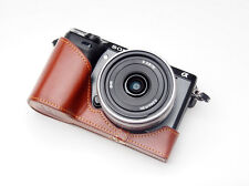 Handmade Vintage Half Leather Camera Case for Sony NEX7 Black and Brown 2 colors