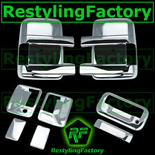08-14 Ford Super Duty Chrome Mirror+2 Door Handle w/o PSG K.H+ Tailgate Cover