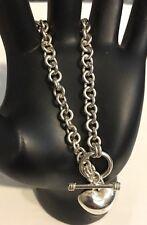 BEAUTIFUL!!!Estate Vintage Sterling Silver, .925 ROLO chain Bracelet. HEAVY!!