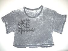 New DC Shoes Womens Tic Tac Toe Oversized Cropped Top Tee T Shirt Tshirt Medium