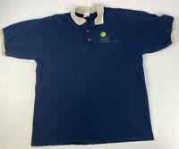 Walt Disney World Shades of Green Resort Men's Navy Blue Polo Shirt; Size XL