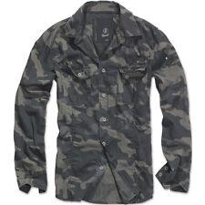 Brandit - Slimfit camisa Outdoor L camuflaje oscuro