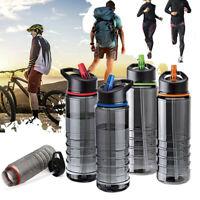 800ml Sport Water Bottle Flip Straw Drinks Running Cycling Hiking Drinking Cups