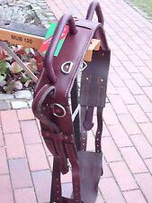 Voltigiergurt aus Leder Größe,Pony,braun ,ca 154-184 cm