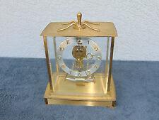 Vintage Kieninger & Obergfell (Kundo) Electronic Brass Mantle Clock Steam READ