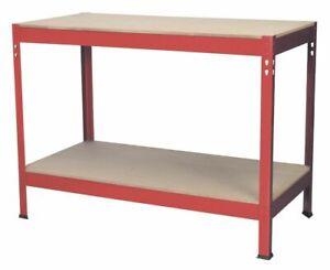 Sealey AP1210 Workbench 1.2mtr Steel Wooden Top SWS21