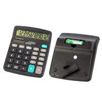 Desktop Table Top Office 12-Digit Battery Powered Calculator Statistics Tool New