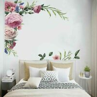 3D Blossom Flowers Rose Tree Wall Stickers Art Mural Removable Decal Decors DIY