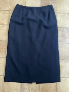 Hobbs Navy Pencil Skirt, Size 10, Very Good Condition