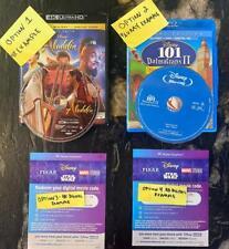 Disney Movies: 4K Disc w/Case -or-Blu Ray w/Case -or- 4k Digital -or- Hd Digital