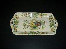 Mason's Strathmore Green Large Sandwich Tray Platter England
