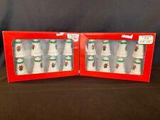 8 Sets Pfaltzgraff Christmas Heritage Individual Salt & Pepper Shakers HTF