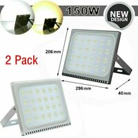 2x 150W LED Flood Light IP65 Waterproof Outdoor Spotlight Garden Yard Lighting