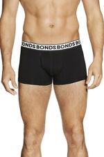 6 X Bonds Fit Trunks Mens Underwear Black W60