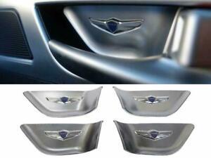 Tauro Door Catch Plate Logo Interior Panel (Fits: Hyundai 2015-2019 Genesis G80)