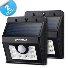 2x Mpow 8 LED Solar Lamp Wireless PIR Weatherproof Security Garden Light Motion
