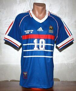 FRANCE 1998 WORLD CUP FINAL ZIDANE #10 JERSEY