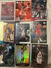 Michael Jordan Basketball Card Insert Lot X9 SP, Refractor Encore