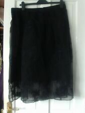 BLACK AND BLUE SKIRT BY WAREHOUSE, SIZE 16