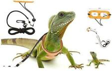 New listing Mihachi Adjustable Bearded Dragon Harness Soft Leather Reptile Lizard Leash for
