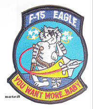 US.Air Force F-15 Eagle` TOMCAT BEATERS` Aircraft Cloth Badge / Patch (F15-6)