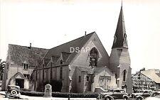 A75/ Santa Rosa California Ca Postcard RPPC Baptist Church Built Redwood Tree