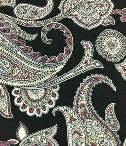 STAFFORD  men's necktie, Black /Gray Paisley, 100% Silk A123