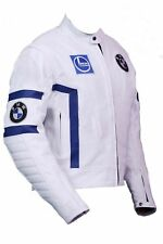 FNine Men's Replica BMW Leather Motorbike Jacket with CE Armor Protection