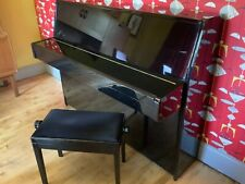 More details for yamaha upright acoustic gloss black piano with matching stool