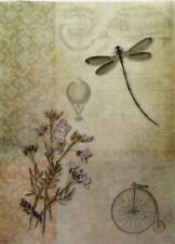 Rice Paper for Decoupage and Scrapbook Craft Flowers Balloon Dragonfly   226