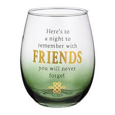 "Grasslands Road - Celtic Traditions - ""Friends"" Stemless Wine Glass - 474344"