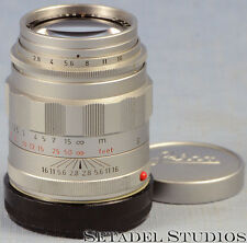 LEICA LEITZ 90mm TELE-ELMARIT F2.8 1ST V 'FAT' CHROME M LENS