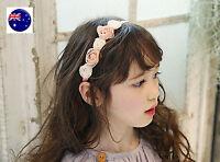 Flower Girls Children Kids Pink white Rose Lace Hair Band garland Headband PROP