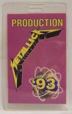 METALLICA - 1993 PRODUCTION ORIGINAL LAMINATE BACKSTAGE PASS