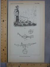 Rare Antique Orig VTG Bellows Blowers Poison Innovation Illustration Art Print