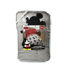 Disney Mickey Mouse Microfiber Twin Comforter 64in. X 86in. Gray Black New