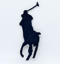 Polo Black Ralph Lauren Polo logo  Iron or Sew on Embroidered Patch