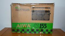 Brand New AIWA CS-J55 Stereo Radio Cassette Recorder Boombox