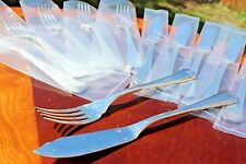 Christofle Boreal Silver plated Fish Forks and Knives Set of SIX