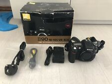 Nikon D90 Digital SLR Camera Black (Body, Charger & Battery)