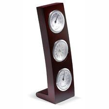 3 Cadran Cadre en bois Station météo inclus horloge, thermomètre et Hygrometer