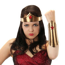 Female Super Hero Kit Sexy Wonder Adult Woman Costume Headband & Wrist Cuffs