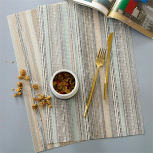 Place Mats PVC Non-Slip Heat Resistant Table Mat for Home Restaurant PF